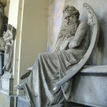 Statue de Chronos au cimetière de Staglieno