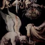 Kairos représenté dans une fresque du XVIe siècle par Francesco Salviati